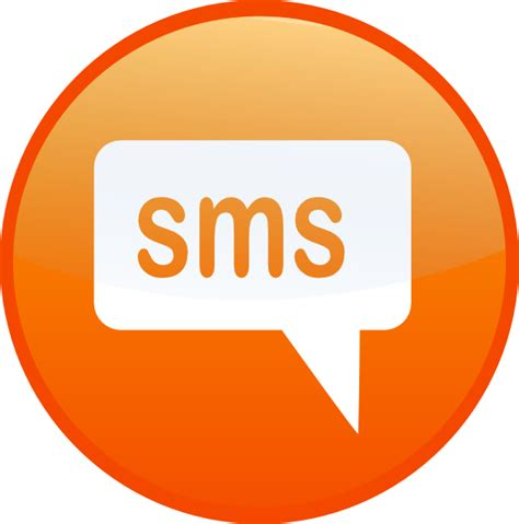 text sms sms text clip at clker vector clip