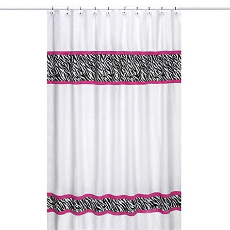 hot pink shower curtain hooks sweet jojo designs funky zebra shower curtain in pink