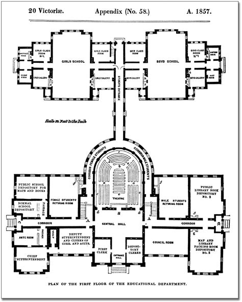 Parliament House Floor Plan by File Architectural Measured Drawings Showing The Floor