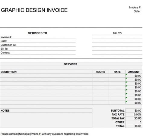 invoice template graphic design free graphic design web invoice template excel pdf
