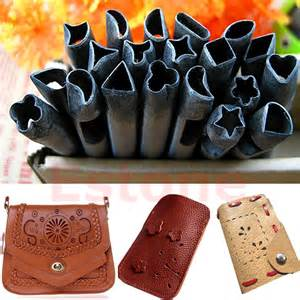 leather craft diy 20 patterns punch leather crafts tools handwork diy for belt bag purse 6mm