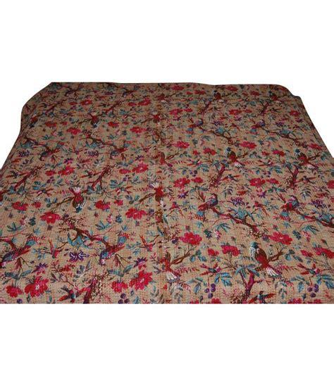 Printed Quilt by Dhanlaxmi Handicrafts Multicolor Printed Cotton Quilt Buy Dhanlaxmi Handicrafts Multicolor