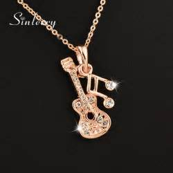 jewelry free shipping sinleery 2016 new musical note guitar pendant necklace