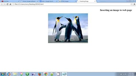 html tutorial how to insert image how to insert image in html web page using notepad
