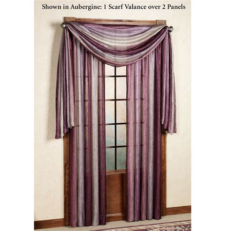 Scarf Valance ombre semi sheer scarf valance and window treatments