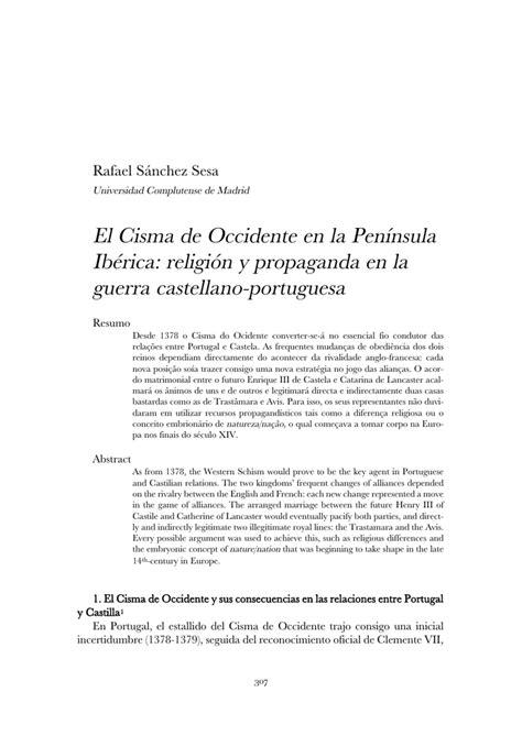 El Cisma de Occidente en la Península Ibérica: religión y