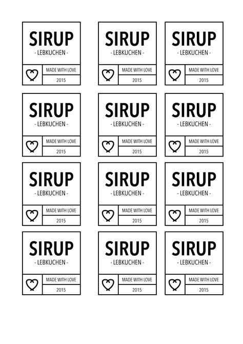Etiketten Drucken Download by Etiketten Zum Ausdrucken F 252 R Verschiedene Sirups Als Pdf