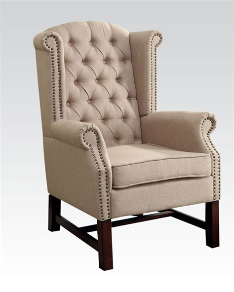 Beige Accent Chair Beige Fabric Accent Chair By Acme Furniture Ac59310