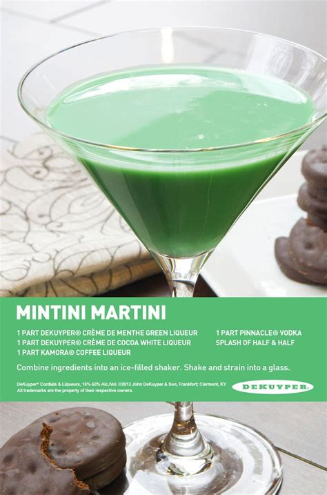martini mint the thin mint cocktail recipe dishmaps