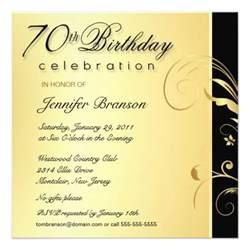 70th birthday gold floral invites 5 25 quot square invitation card zazzle
