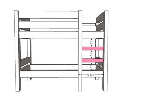Bunk Bed Ladder Plans White Doll Bunk Beds For American Doll And 18 Quot Doll Diy Projects
