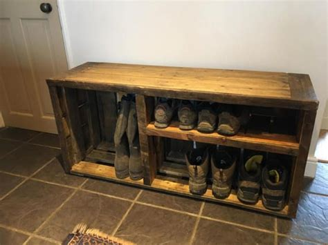 boot storage bench 25 best rustic shoe rack ideas on pinterest wooden shoe