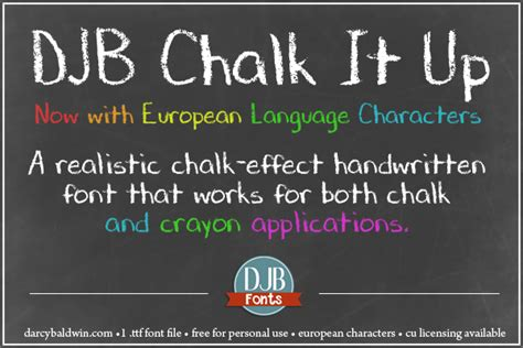 Dafont Chalk | djb chalk it up schriftart dafont com