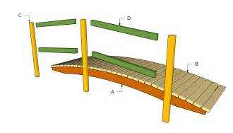 how to build a wooden bridge diy how to build wood bridge plans free