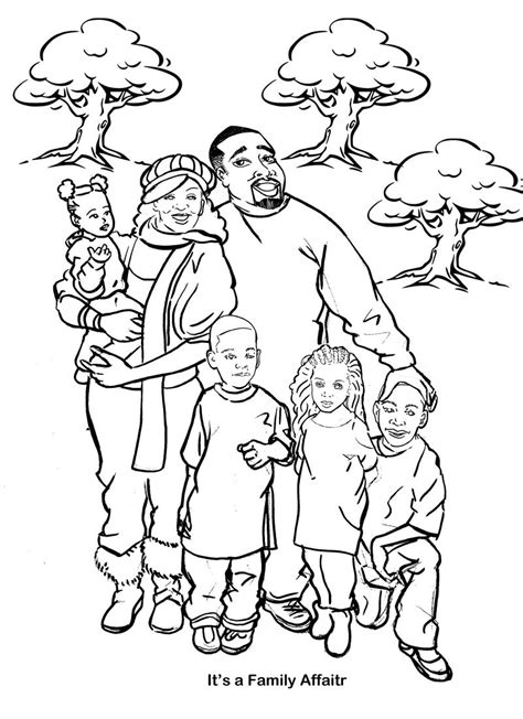 free coloring pages of big family members