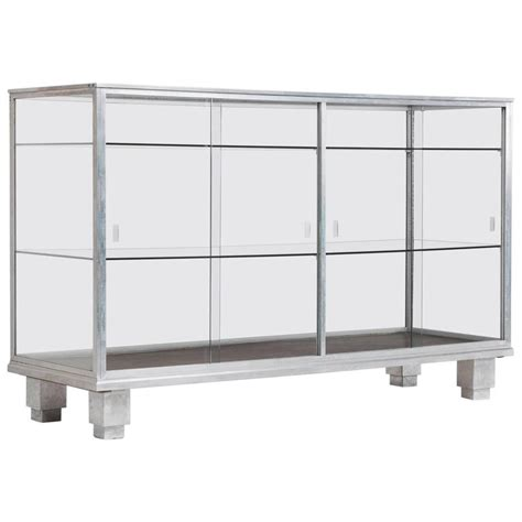 display cabinet  chrome  glass  sale  stdibs