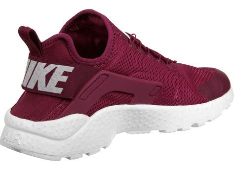 nike air huarache run ultra  shoes maroon white weare shop