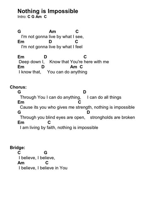The Cribs Chords by Nothing Is Impossible Chords
