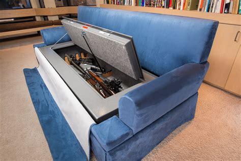 gun safe sofa couch bunker safe and hidden safe furniture bedbunker safes