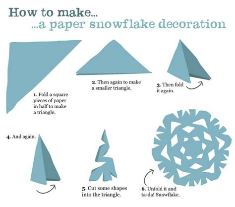 Easy Way To Make Paper Snowflakes - how to make a six pointed paper snowflake papercraft