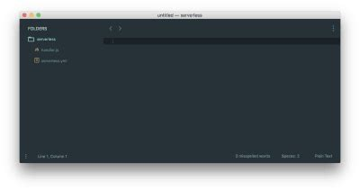 Serverless Template File
