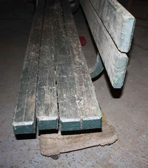 park bench green paint antique wooden park bench with original green paint olde