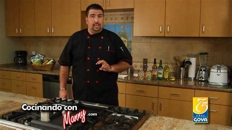 cocinando con cocinando con manny youtube