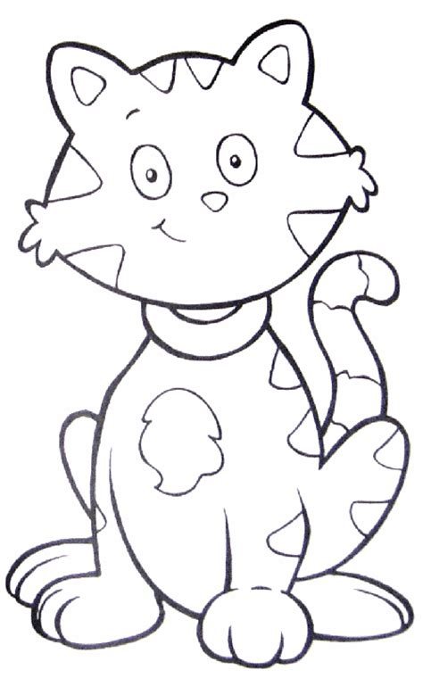 Tabby Cat Coloring Pages free coloring pages of cat on a mat
