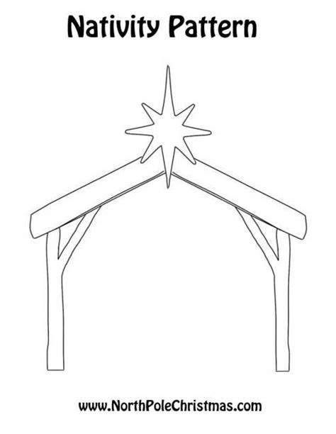 manger template printable nativity manger clip northpolechristmas