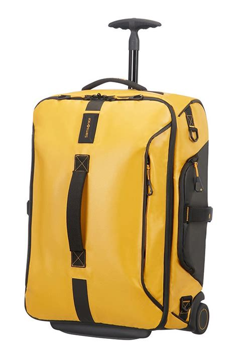 cabin backpack with wheels paradiver light duffle on wheels 55cm backpack yellow