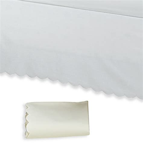 scalloped bed skirt vintage chic scallop bed skirt bed bath beyond