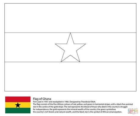 free coloring pages of flag of ghana disegno di bandiera del ghana da colorare disegni da