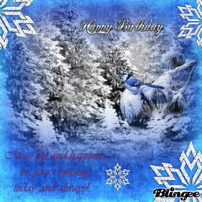 Winter Birthday Cards Winter Birthday Greetings Picture 120297906 Blingee Com