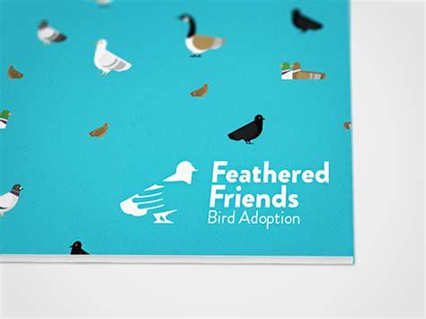 feathered friends bird adoption brand identity on pantone