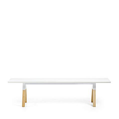 Banc Blanc banc design scandinave bois laqu 233 blanc joe by drawer