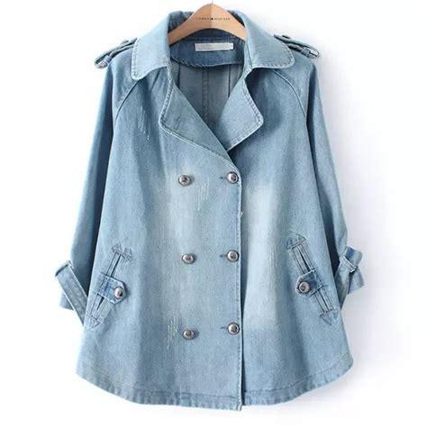 Promo Cape Blazer Jaket Wanita Jk402 2015 autumn winter plus size denim cape jacket