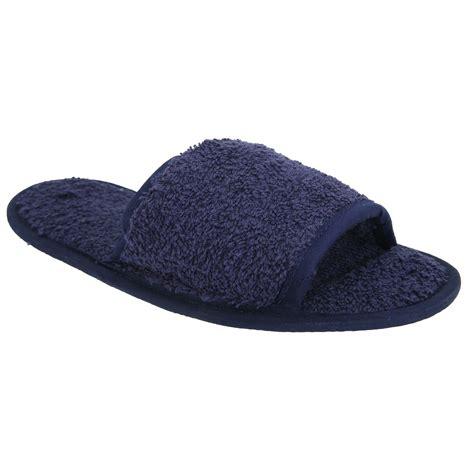 men s bathroom slippers towel city classic unisex terry slippers open toe mens