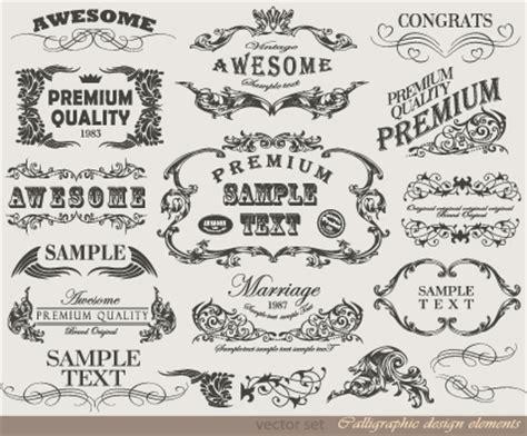 vintage menu design elements vector retro calligraphy design elements vector graphic 04 free