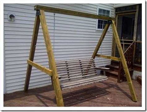 a frame swing stand plans porch swing stand diy plans porch swing bed designs