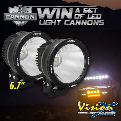 Vision X Light Cannon by Win A Set Of Vision X Led Light Cannons Race Dezert