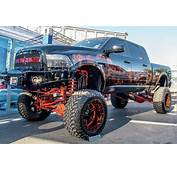 Lifted Ram Truck With Sick Custom Paint  Off Road Wheels