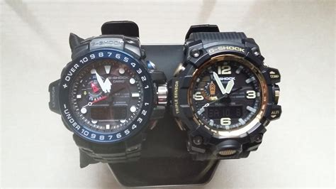 G Shock Ga 1000b Blue Black g shock battle gulfmaster vs mudmaster casio g shock gwn