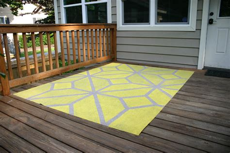 How To Paint An Outdoor Area Rug Checking In With Chelsea Outdoor Deck Rugs
