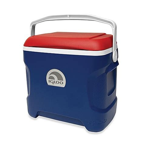 bed bath and beyond cooler igloo 174 contour 30 quart cooler in blue red white bed