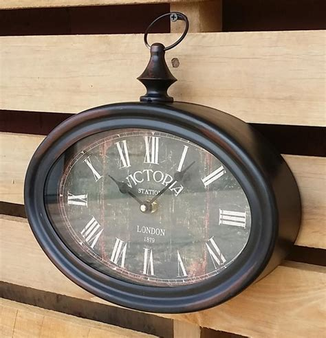 Hemispheres Home Decor oval wall clock vintage clock victoria station clock