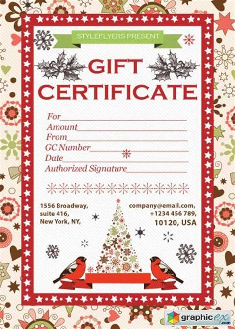 gift certificate v2 psd flyer template with facebook cover