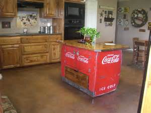 Coca Cola Kitchen by Coke Chest Converted To Kitchen Island Coca Cola Kitchen