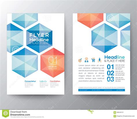 flyer and brochure templates abstract hexagon poster brochure flyer design template