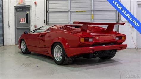 1990 Lamborghini Countach For Sale 1990 Lamborghini Countach Carbureted 25th Anniversary