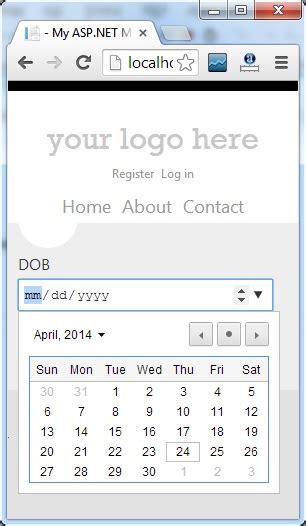 format date using jquery asp net mvc 4 jquery datepicker date format validation
